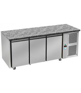 Tour pâtissier 600x400 réfrigéré ventilé dessus granit 3 portes 2150x800x850mm froid positif tropicalisé. TPG 3 P GL DAP