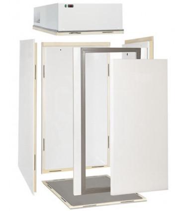 Chambre froide mini vue éclatée, 6 panneaux à monter. Froid positif 0ºC / +10ºC groupe tropicalisé - CHF 132 TN DAP