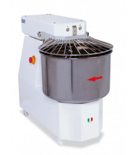 Pétrin à spirale tête fixe IGF 15 L 12 kg de pâte à pizza 230V mono - 2200/S12M