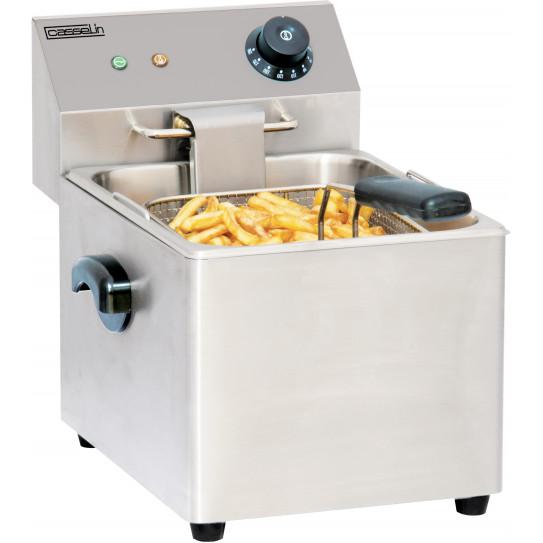 Friteuse électrique 8 litres top de table 1 cuve 230 V monophasé - CFE8 Casselin