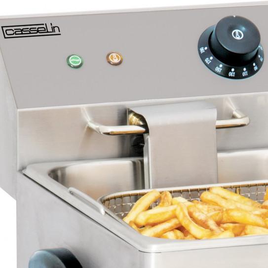 Friteuse électrique 8 litres température réglable de 60°C à 190°C mono 230V -  Casselin CFE8
