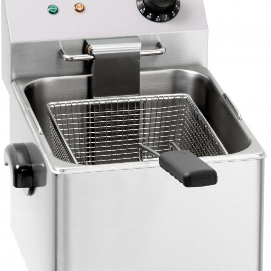 Friteuse électrique 8 litres professionnelle de table 1 cuve 1 panier 230 V mono - CFE8 Casselin