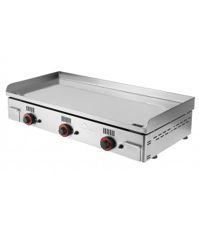 Plancha 100 cm gaz chrome dur lisse épaisseur 15 mm 12,3 kW - NC-100 MAINHO
