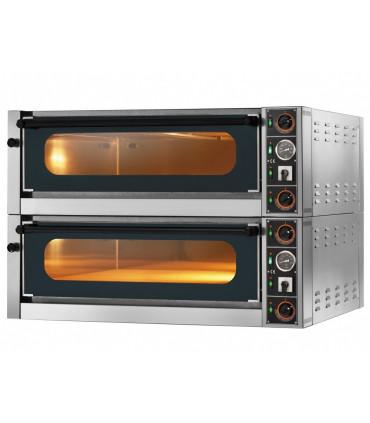 Four pizza électrique GAM M6G large chambre entièrement réfractaire commandes mécaniques, 2 modules superposables