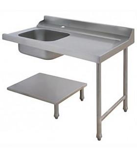 Table d'entrée à droite pour lave-vaisselle à capot avec bac de prélavage - AAL0122 MBM