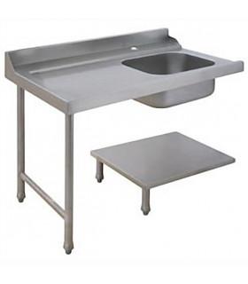 Table d'entrée à gauche pour lave-vaisselle à capot avec bac de prélavage - AAL0124 MBM
