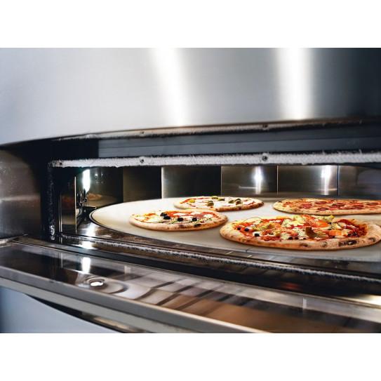 Four pizza GIOTTO CUPPONE GT110 électrique vue chambre sole tournante