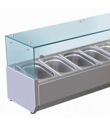 Vitrine à ingrédients réfrigérée 1400 mm détail VRX1400/380