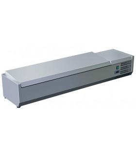 Vitrine à ingrédients réfrigérée avec couvercle prévue pour bacs 8xGN1/3 - C-VRX1800/380