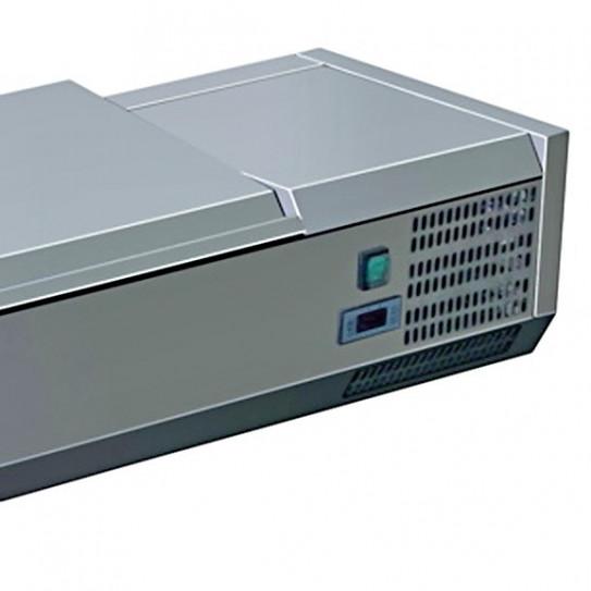 Vitrine à ingrédients réfrigérée avec couvercle inox détail C-VRX /380
