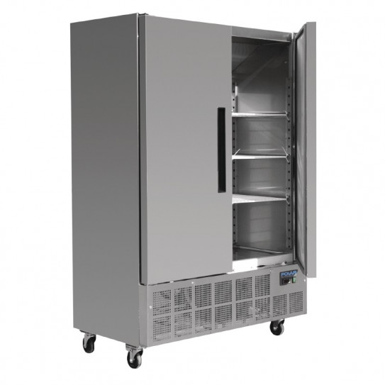 Armoire froide 960 Litres 2 portes inox extérieur - Dimensions ext. 1340 x 700 x 2000(H) mm - GD879 POLAR