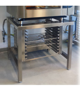 Support inox pour four mixte Chefmate CME CMG CMFE, CMFG, CONVY CYE - SCFM MBM