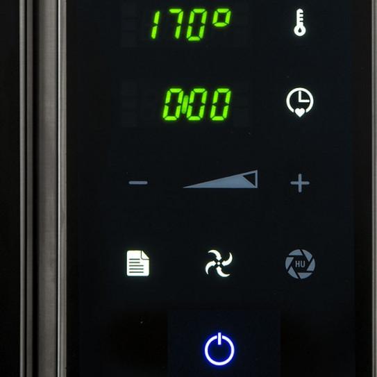 Chefmate détails du panneau de contrôle sensitive touch four mixte CME6W MBM