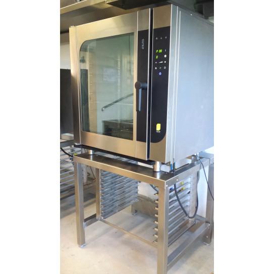 Chefmate four mixte électrique CME10 W MBM sur son support (en option) SFCM