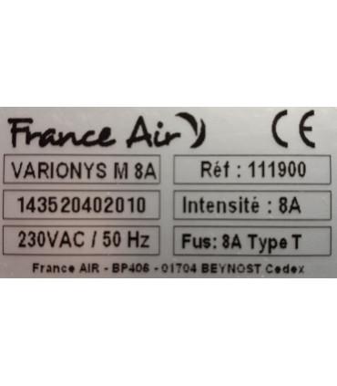 Variateur électronique 8A mono caractéristiques.