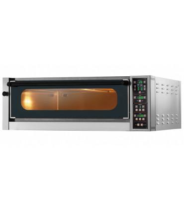 Four pizza électrique GAM ME6G TOP large chambre entièrement réfractaire à commandes électroniques, 1 élément superposable