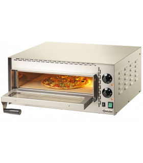 Four à pizza Mini Plus électrique 1 pizza - Dimensions chambre intérieure : L 410 x P 370 x H 90 mm - Bartscher 203530