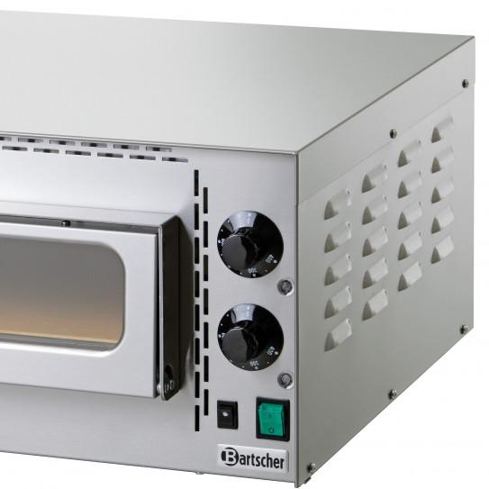 Four à pizza Mini Plus détail commande régulateur température - Bartscher 203530