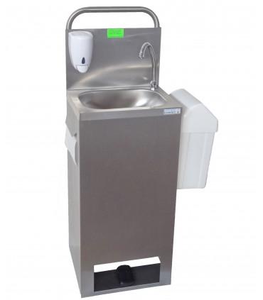 Lave-mains autonome mobile électrique 12 V (2 piles 6 V fournies) 806 517 - Tournus 806517