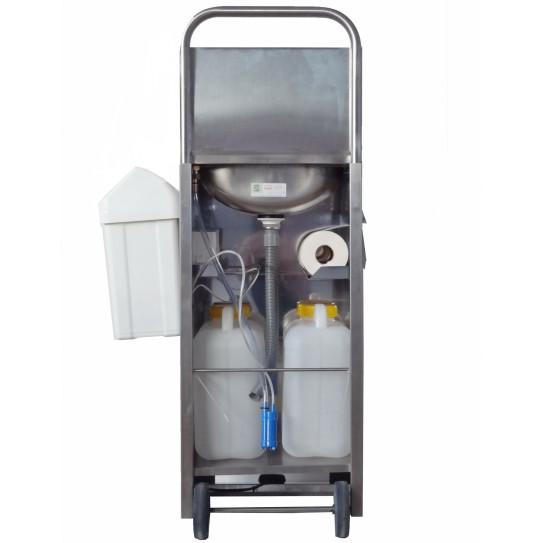 Lave-mains inox autonome détails bidon eaux propres et bidon eaux usées - TOURNUS 806517