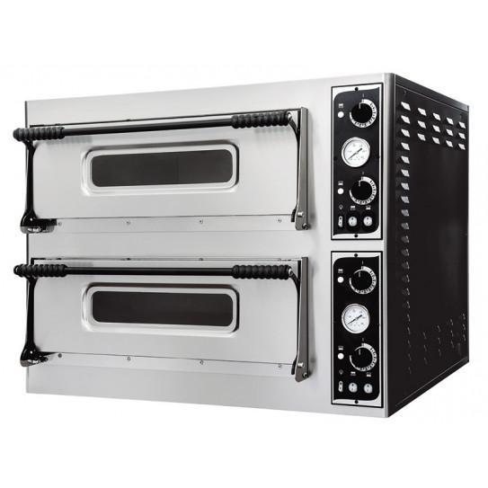 Four Pizzas électrique 2x4 pizzas Ø 31cm - Dim extérieures 90x79x75cm - 9,4 kW - BASIC MEDIUM 44 Prismafood