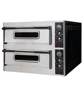 Four Pizzas électrique 2x4 pizzas 12 kW - Dim extérieures 101x85x75 cm - BASIC XL44 Prismafood