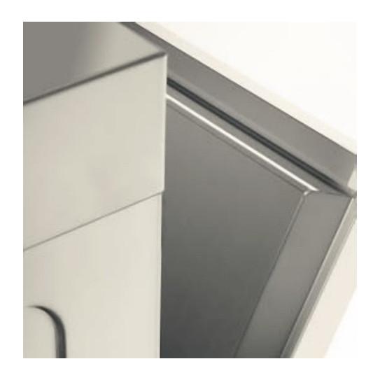 Porte à double paroi pour limiter les pertes de chaleur et le bruit. Lave-verres panier 35x35 LB355 MBM