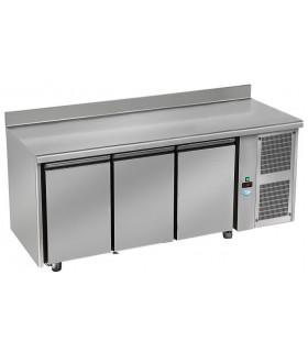 Tour pâtissier 600x400 réfrigéré ventilé dessus inox 3 portes 2150x800x850mm froid positif tropicalisé. TPI 3 P GL DAP
