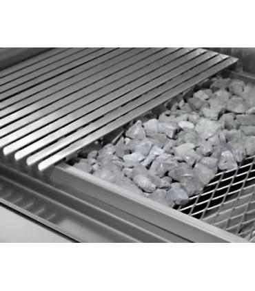 Principe grill Charcoal parrillas gaz pierres de lave réfractaires