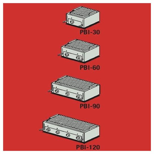 PBI-30-60-90-120 divers dimensions Grill Charcoal Parrillas gaz Mainho inox pierres volcaniques