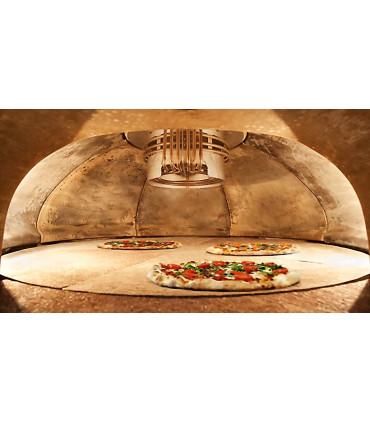 Four pizza E100 GIOTTO Pastaline vue sole tournante intérieure diamètre 1 m