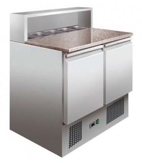 Table préparation sandwich et pizza 900x700xH1075mm dessus granit PS900