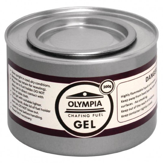 Gel combustible 200gr pour Chafing dish CE241 Olympia