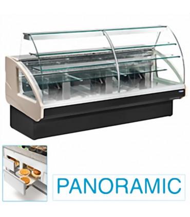 Comptoir vitrine réfrigérée 1400x980xH1237mm 4 niveaux - UT14/A4 DIAMOND