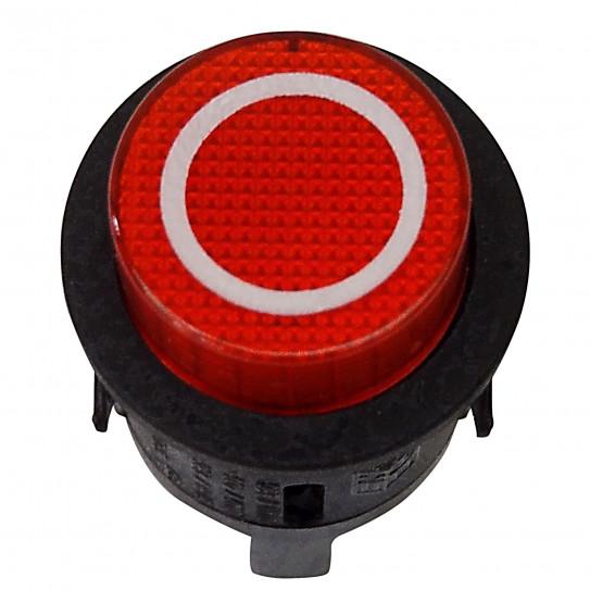 Bouton poussoir rouge Off (0) laminoir pizza PASTALINE VELMA GIOTTO D45 D30 PARALLELA SPL60