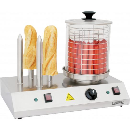 Appareil à Hot-Dog 4 plots 1 kW - CMH1 Casselin