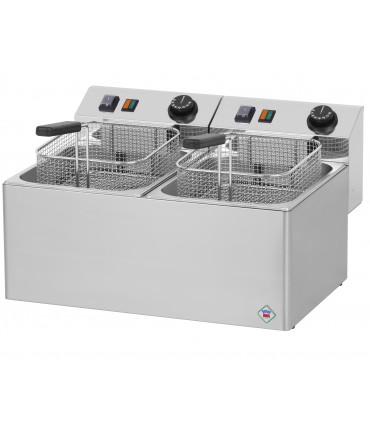 Friteuse électrique de table cuve 2x8L FE77E RM GASTRO