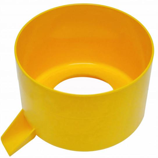 Cuve à jus jaune presse-agrumes Santos 11 - Ø orifice intér. 84mm avant Juin 1992 - 11204AJ