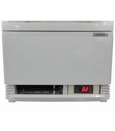 Mini vitrine réfrigérée positive 78 litres ventilée 4 faces vitrées couleur noire - CVR78LB Casselin
