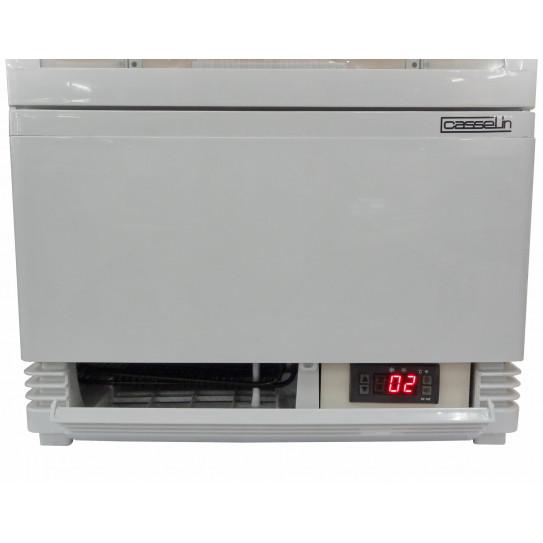 Mini vitrine réfrigérée 58 litres ventilée 4 faces vitrées CVR58LB
