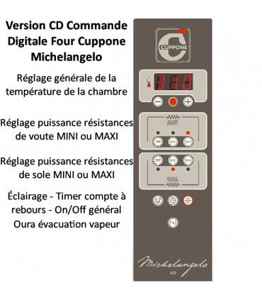 Commande four pizza Michelangelo ML635L/2-CD Commande Digitale Numérique