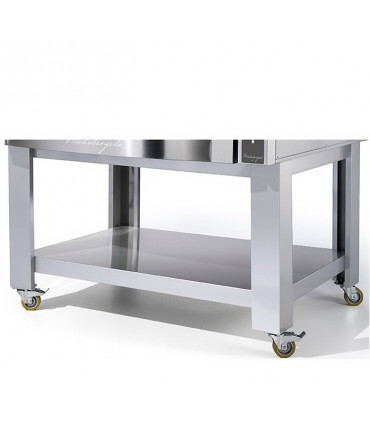 Support four pizza Michelangelo ML635L/2 Cuppone + roulettes SML635L/2 RS
