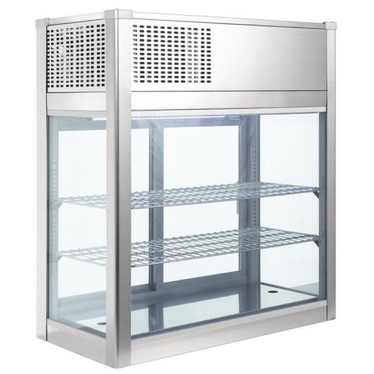 Vitrine réfrigérée, ventilée pâtisserie, sandwiche à poser 160 L - GH463 POLAR