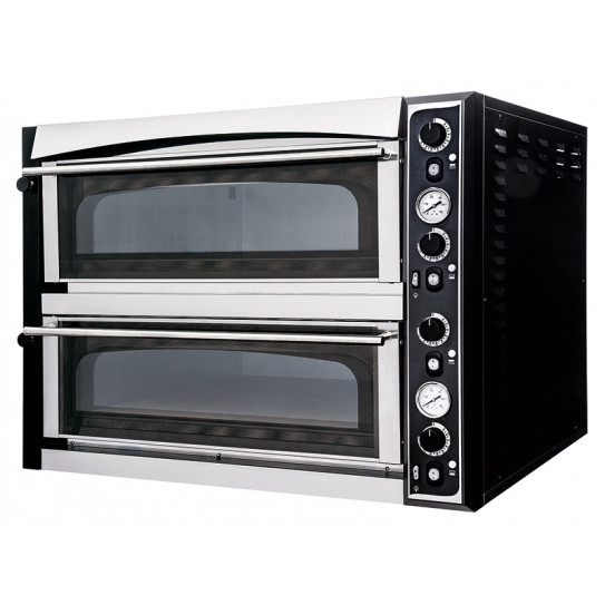 Four Pizzas électrique 2x6 pizzas SUPERIOR XL 66 GLASS - Dim ext 101x130x75cm - 18kW