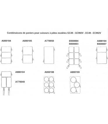 Panier pour cuiseur pâtes : GC49 GC992V EC49 EC992V