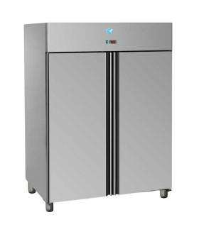 Armoire froide réfrigérée 1400L tropicalisés GN2/1 positive 2 portes inox AIG1400TN