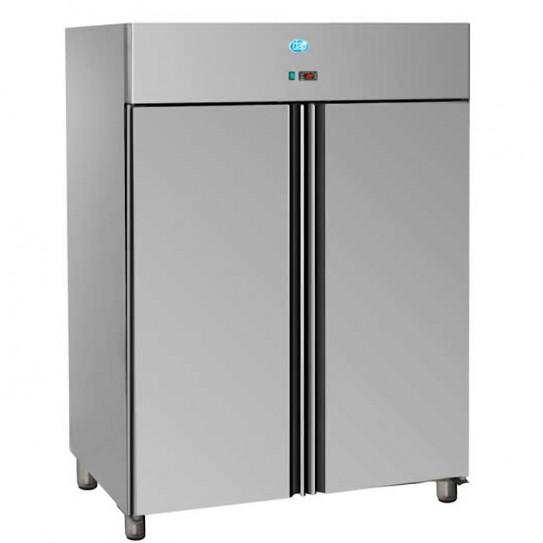 Armoire froide réfrigérée 1400L tropicalisée GN2/1 négative 2 portes inox AIG1400BT