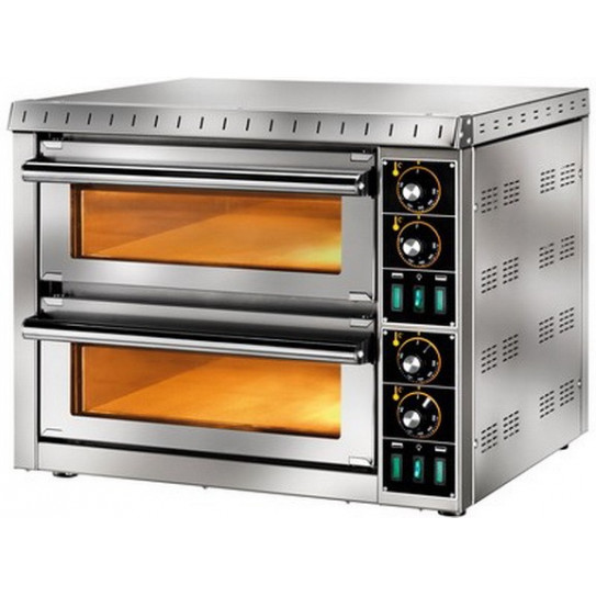 Mini four pizza 2 chambres 3,2kW 2 x pizzas Ø 36 - GAM MD 1+1