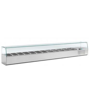 Kit réfrigéré vitrine à ingrédients avec pare-haleine pour bacs 12xGN1/4 - L7-2490