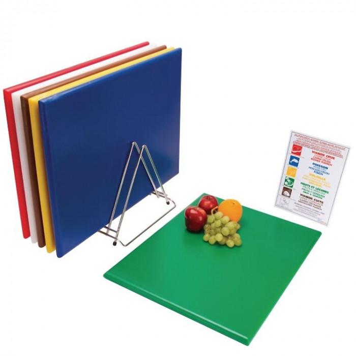 Commercial Cuisine à découper planche code couleur Hygiène Restauration Food set de